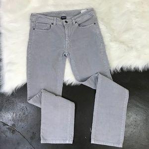 Patagonia Stone Grey Corduroy Straight Leg Pant 28